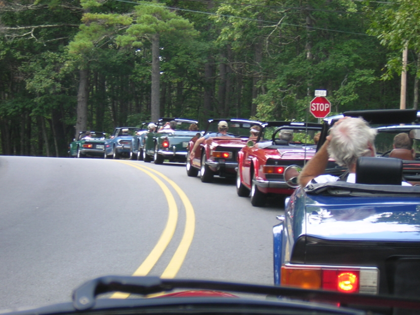 Convoy of Triumph cars