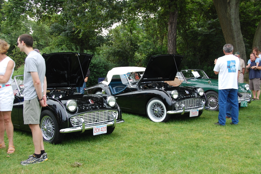 Three TR3a's at Day Of Triumph